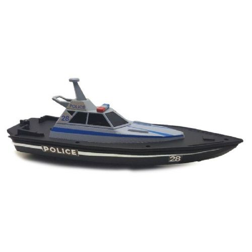 Kids Childrens Maisto M82196 RC Police Boat Remote Control Toy 34.5cm Long